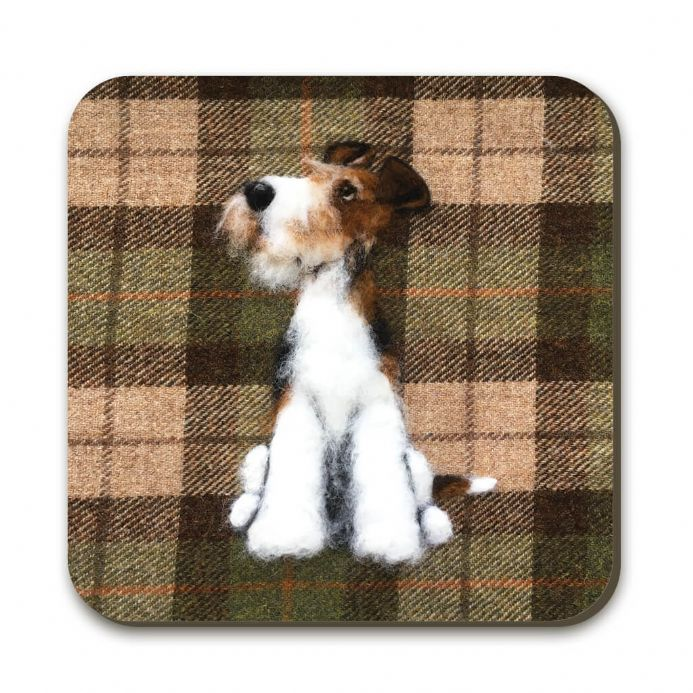 Wire Fox Terrier Coaster by Sharon Salt